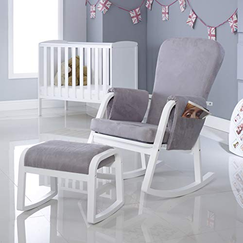Ickle Bubba Dursley Nursing Rocking Chair And Stool, Pearl Grey