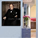 asfrata265 Winston Churchill Wandkunst Leinwand Poster Und