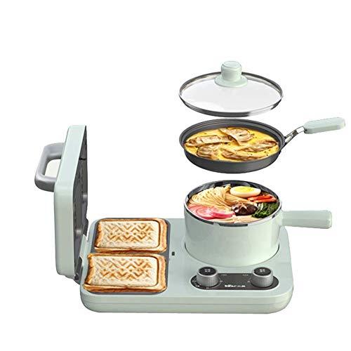 Máquina de desayuno multifunción 3 en 1 para desayuno, máquina para pan, tostadora, horno, calefacción, descongelación, huevos, frutas, huevos