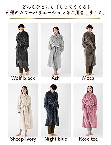 tobestトゥーベスト着る毛布ふんわりあったかプレミアムマイクロファイバー極厚静電気防止加工付き洗える着丈125cm(シープアイボリー)