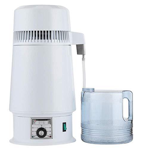 Fdit 4L Edelstahl-Wasserdestillierer Destillieren von reinen Wasserherstellungsmaschinen Destillationsreiniger Kesselbrühmaschine für den Heimgebrauch(EU-STECKER)