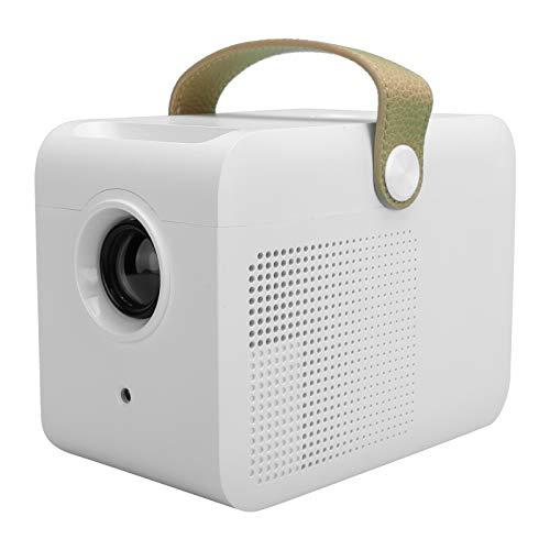 PUSOKEI Videoproiettore HD, Mini Proiettore LCD Portatile, Proiettore Cinematografico Multimediale per Home Theater, con DC, Ingresso HD, Interfaccia USB, Effetto Colore DLP, per la Casa(Mini)