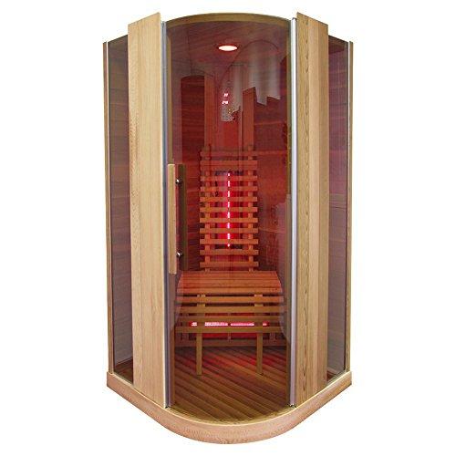 Infrarotkabine | Infrarot | Wärmekabine | Infrarotsauna | Sauna 100 x 100 I Red Zeder Holz, Strahler Art:Dual Strahler