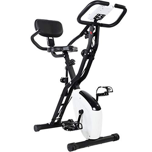 Bicicletas estáticas silenciosa para interiores,Bicis del entrenamiento del pedal del gimnasio,Equipo de gimnasia de ejercicio ajustable,Puede soportar 120 kg ( Color : Blanco , Size : 78.5*41*100cm )