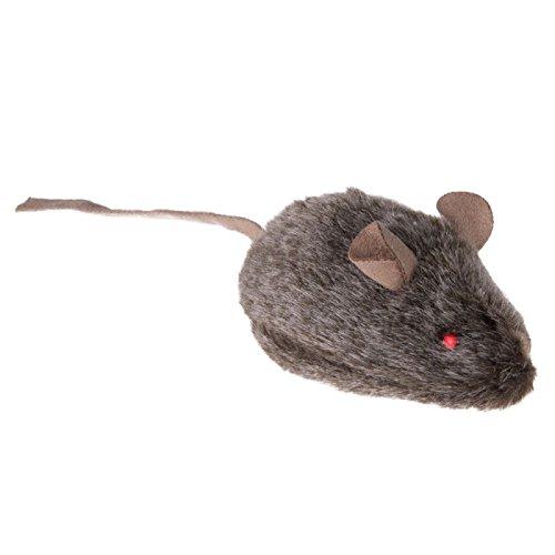 Wild Maus Katze Spielzeug mit Sounds und LED Augen Maus Quietschen