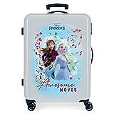 Disney Frozen Die Eiskönigin Awesome Moves Mittlerer Koffer Blau 48x68x26 cms Hartschalen ABS Kombinationsschloss 70L 3,7Kgs 4 Doppelräder