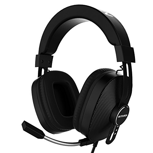 MUTOUREN Professional Gaming Headset, Headset Gaming Headphones for Xbox One,PS4,(Audio) PC Gaming Headset with LED Lights & Noise-canceling Microphone for Mac Nintendo Switch Wii U PSP PS3