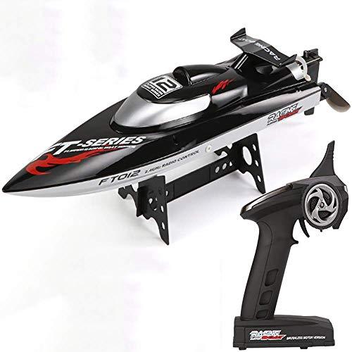 FATSW High Speed Wettbewerb 55KM/H Ferngesteuertes Boot RC Boot, Wasserkühlung 2,4 GHz Funkfernsteuerung für Erwachsene & Kinder für Pool & Outdoor
