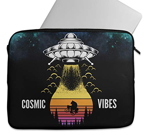 Cosmic Vibes - Funda protectora universal para ordenador portátil/tableta, compatible con MacBook Air Pro, HP, Dell, Asus, Lenovo, Chromebook de 9 a 15.6 pulgadas (9-10')