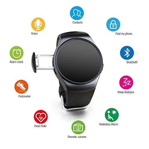 Pinkbenmus - Pedometer Smart Bracelet/Smart Watch con Pulsometro, Diseño Bluetooth, Grabación de Sonido, Monitoreo del sueño