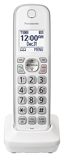 PANASONIC Additional Cordless Phone Handset for use with KX-TGD53x Series Cordless Phone Systems - KX-TGDA50W1 (White)
