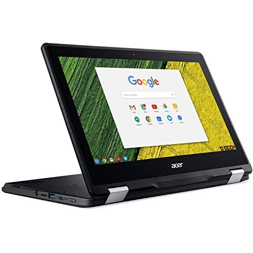 Acer 11,6 pulgadas IPS táctil convertible 2 en 1, Chromebook, Intel Celeron N3350 procesador hasta 2,4 GHz, 4 GB de memoria LPDDR4, 32 GB SSD, Chrome OS (renovado), Negro
