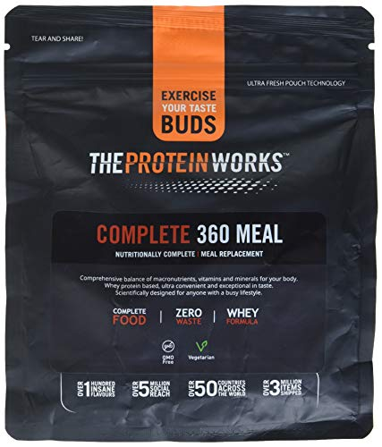 The Protein Works Complete 360 Meal Nutritionally Balanced Quick & Affordable Strawberries 'n' Cream Classic, 500 g