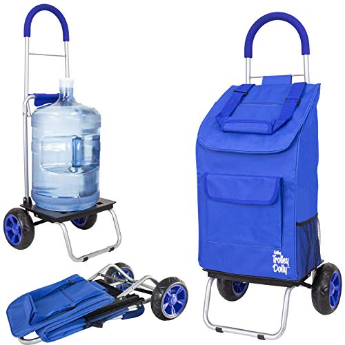dbest products Trolley Dolly Carrito para Compra de comestibles, Negro, Sólido, Azul, 1