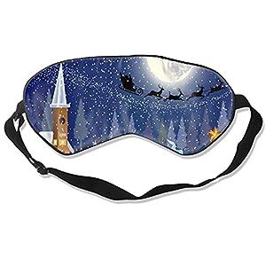 Maschera natalizia per dormire, morbida e soffice, per dormire, per donne e uomini, al 99% di copertura per gli occhi, per i viaggi, i turni di lavoro