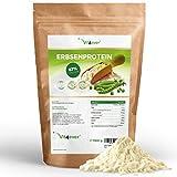 Erbsenprotein Pulver 1,1 kg / 1100 g - 87% Proteingehalt - 100% Erbsen-Proteinisolat - Herkunft Belgien - Vegan - Reines Eiweißpulver - Laborgeprüft - Frei von Gluten, Soja und Laktose