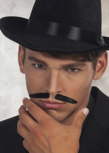 20 s gangster noir fausse Moustache