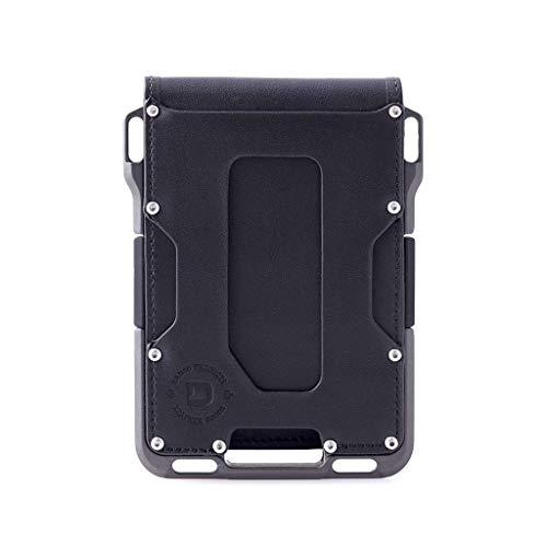 Dango M1 Maverick Bifold EDC Wallet - Made in USA - Genuine Leather, Slim, Minimalist, Metal, RFID Blocking