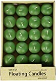 Zest Candle 24-Piece Floating Candles, 1.75-Inch, Hunter Green