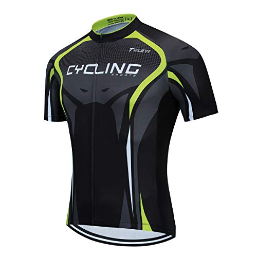 Cycling Jersey Men Summer Short Sleeve Bicycle Clothing MTB Road Pro Bike Jersey Cycling Shirt Tops Jackets Breathable,S-XXXL