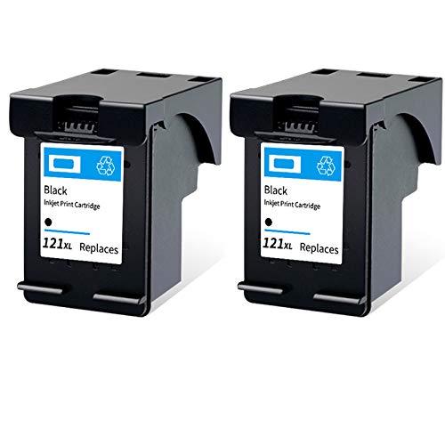Cartucho de tinta 121XL, de alto rendimiento para impresoras HP Deskjet F4275 F4280 F4238 F4283 PhotoSmart C4780 ENVY 100 110, negro y tricolor 2 negro