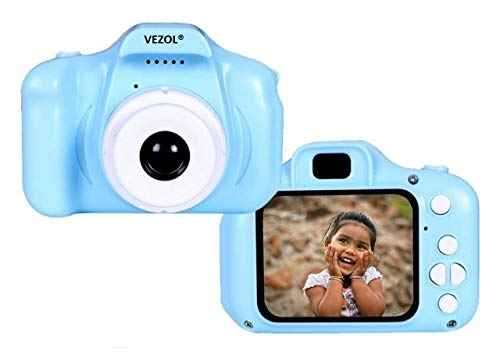 VEZOL Digital Camera, Recorder Camera 800W HD 2.0 Inch Screen Video Front Camera Child Camera (Blue) - BB16 (Blue)