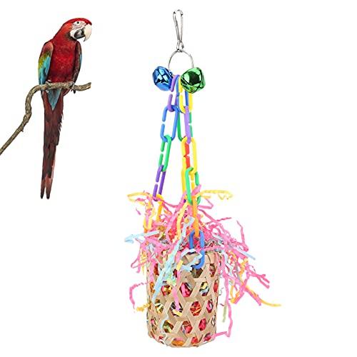 オウムのための採餌ケージ、耐久性のある鳥の噛むおもちゃ採餌ハンギングバスケット鳥のための明るい色