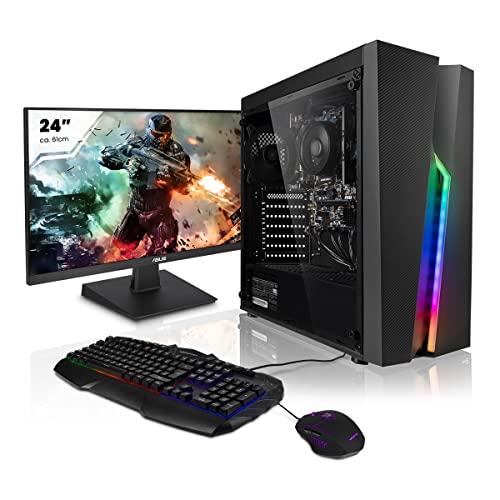 "Pack Ordenador PC AMD Athlon 3000G 2X 3.50GHz • 24"" Full-HD Monitor • Teclado y ratón Gaming • AMD Radeon Vega 3 • 16GB DDR4 • Windows 10 • 1TB Disco Duro"