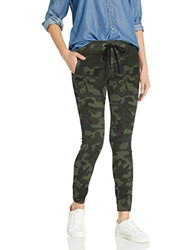 COVER GIRL Damen Pull On Camo Solid Mid Rise String Jogger Fit Sporty Active Jeans, Camouflage-Krawatte, Gelb, 43