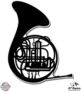 GT Graphics French Horn - Vinyl Sticker Waterproof Decal