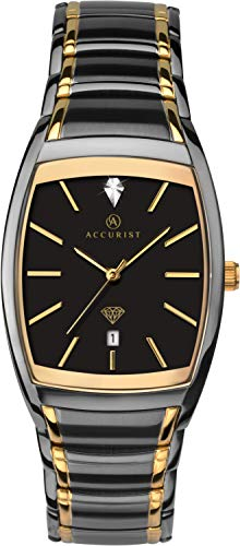 Accurist Herren Analog Quarz Uhr mit Edelstahl Armband 7120