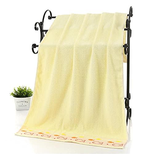 por Encima de 70x140cm deleneado de algodón de Color Rosa Amarillo Azul Rosa Pequeño patrón de Pescado Calidad Toalla de baño-C1