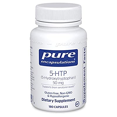 Pure Encapsulations - 5-HTP (5-Hydroxytryptophan) 50 mg - Hypoallergenic Dietary Supplement to Promote Serotonin Synthesis - 180 Capsules