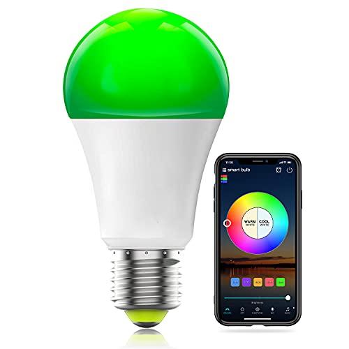 HaoDeng Smart WiFi Lampadina Alexa, dimmerabile Multicolor E27 A19 7W (equivalente 60w) Lampadina a LED, compatibile con Alexa Google Home Siri IFTTT (confezione da 1)