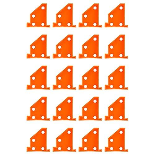 20 Piezas Espaciadores para Pisos Herramientas para Suelos de Madera Espaciadores de Diseño Triangular Herramientas para Mejorar El Hogar Compatibles con Tablones de Vinilo con