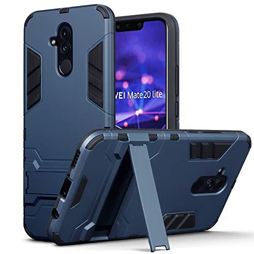 TERRAPIN Custodia Huawei Mate 20 Lite, Silicone e Cover di Policarbonato Rigida con Funzione di Appoggio per Huawei Mate 20 Lite Cover, Colore: Buio Blu