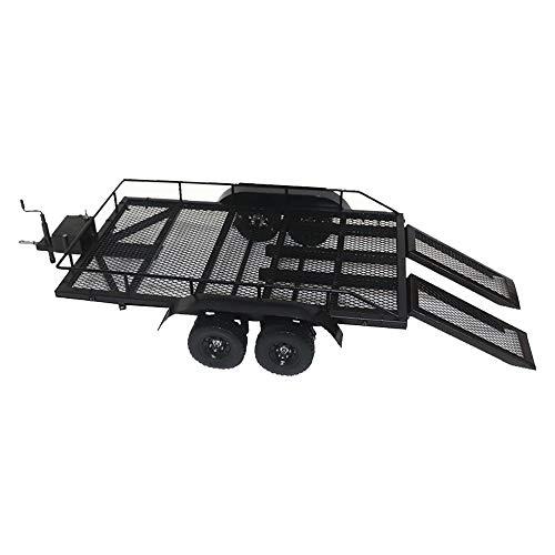 Goolsky Trailer Car Heavy-Duty Trailer Cargo Carrier Metal Kit for 1/10 Traxxas HSP Redcat RC4WD Tamiya Axial SCX10 D90 HPI RC Crawler Car DIY