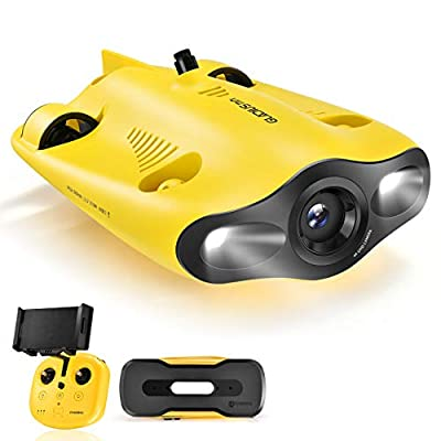 CHASING Gladius Mini Underwater Drone - 4K UHD Underwater Camera for Real Time Viewing, Remote Controller and APP Remote Control, Dive to 330ft, Live Stream, Adjustable Tilt-Lock, Fish Finder, ROV