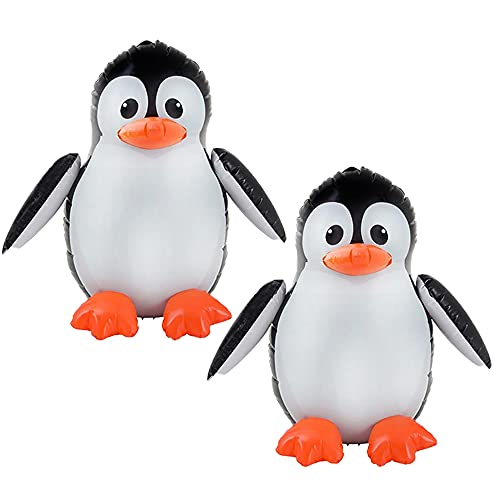 The Dreidel Company Large Penguin Inflate, Perfect for Kids, Bag Fillers, Classroom Prizes, Event Decorations, Ideal Party Favors, 24' Tall (2-Pack)
