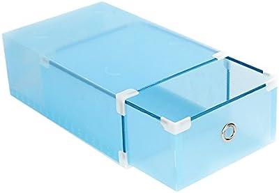 YHLVE - Caja para Zapatos, cómoda para Zapatos y Organizador de Zapatos de plástico Transparente: Amazon.es: Hogar
