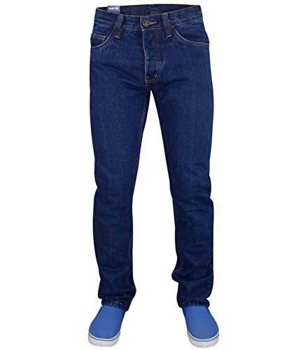 Jack South, jeans da uomo alla moda, mod. Kushiro, tipo chino, vestibilità normale Dark Indigo 36W/33L