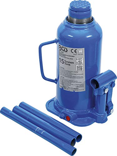 BGS 9887 | Hydraulischer Flaschen-Wagenheber | 15 t | Stempelwagenheber / Kompakt-Wagenheber
