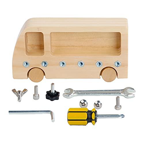 Non-brand Montessori bebé Tablero de Destornillador para niños Pernos de Tornillo Materiales Montessori Habilidades básicas prácticas Juguetes educativos de