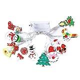 WBTY Cadena de luces LED de Navidad Fariy luz funciona con pilas DIY boda...