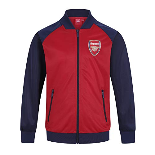 Arsenal FC Official Soccer Gift Boys Retro Track Top Jacket Red 8-9 Years MB