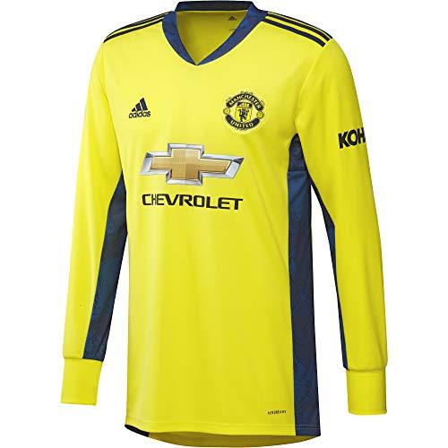 adidas Herren 20/21 MUFC Away Goalkeeper Jersey Torwarttrikot, Shoyel/Navblu, L