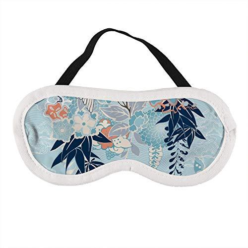 Draagbaar Oogmasker voor Mannen en Vrouwen, Japanse Kimono Motief met Kraan en Bloemen De Beste Slaap masker voor Reizen, dutje, geven U De Beste Slaap Omgeving