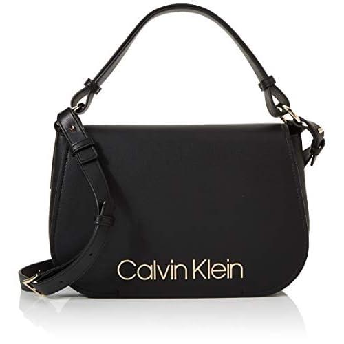Calvin Klein Dressed Up Satchel - Borse a secchiello Donna, Nero (Black), 1x1x1 cm (W x H L)