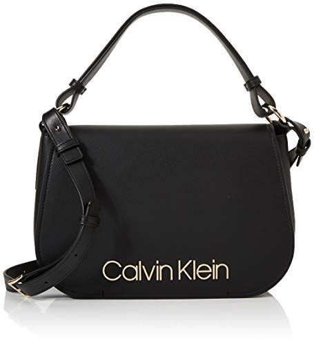 Calvin Klein Dressed Up Satchel - Borse a secchiello Donna, Nero (Black), 1x1x1 cm (W x H L)