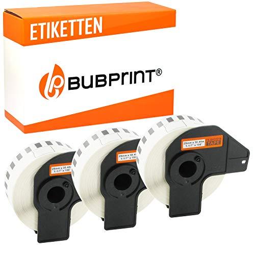 Bubprint 3 Etiketten kompatibel für Brother DK-22210 DK 22210 für P-Touch QL1050 QL1060N QL500BW QL550 QL560 QL570 QL580N QL700 QL710W QL720NW QL810W